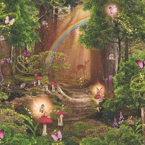 Arthouse Imagine Fun Wallpaper Magic Garden Multi 696009