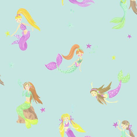 Arthouse Imagine Fun Wallpaper Mermaid World Teal 696103
