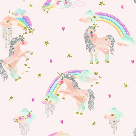 Arthouse Imagine Fun Wallpaper Rainbow Unicorn Pink 696108