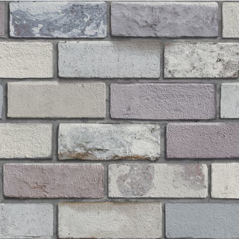 Arthouse Industrial Brick Wallpaper Grey 698800