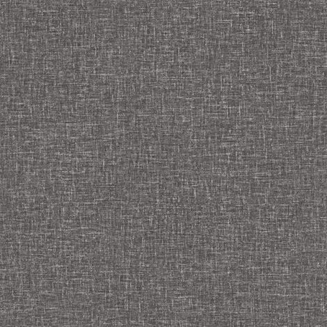 Arthouse Linen Woven Effect Faux Fabric Wallpaper Charcoal / Grey 903104