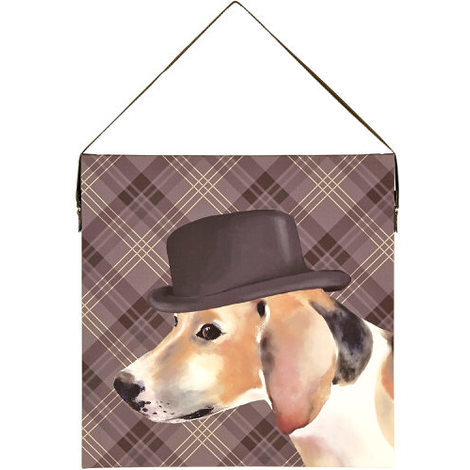Arthouse Lochs & Lagoons Canvas Dog in a Hat