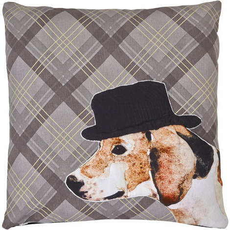 Arthouse Lochs & Lagoons Embroidered Cushion Dog