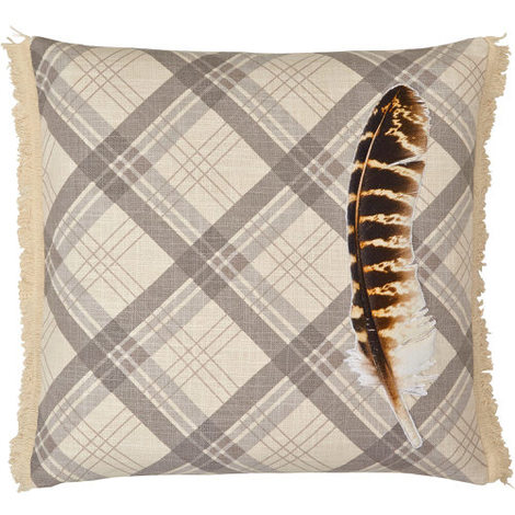Arthouse Lochs & Lagoons Embroidered Cushion Feather Cream Cushion