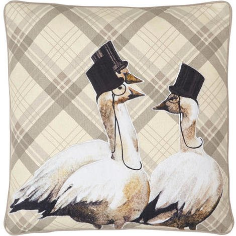 Arthouse Lochs & Lagoons Embroidered Cushion Geese