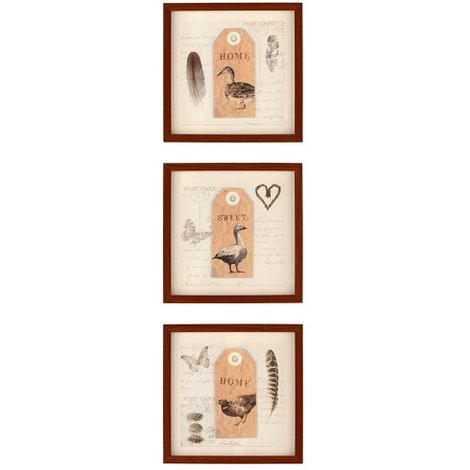 Arthouse Lochs & Lagoons Framed Prints Duck, Goose & Pheasant Set of 3