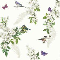 Arthouse Mitzu White Glitter Wallpaper
