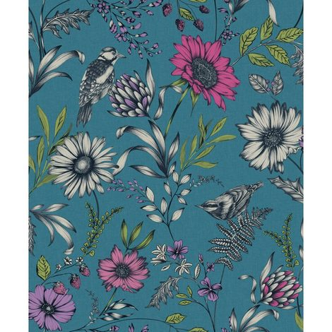 Arthouse Paste The Paper Wallpaper Botanical Songbird