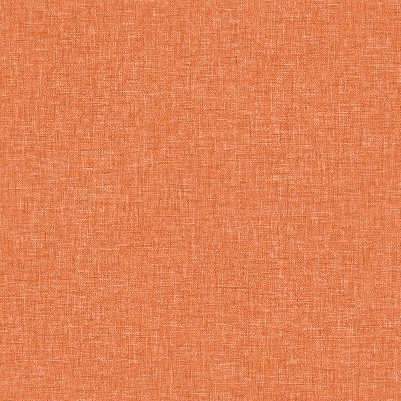 Image of Arthouse Linen Textured Vintage Orange Wallpaper Plain Woven Effect Spongeable