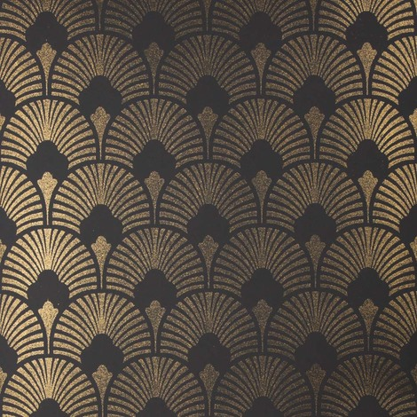 Arthouse Paste The Wall Vinyl Chareau Fan Design Kitchen And Living Room Glitter Wallpaper Roll Gold And Black 671500