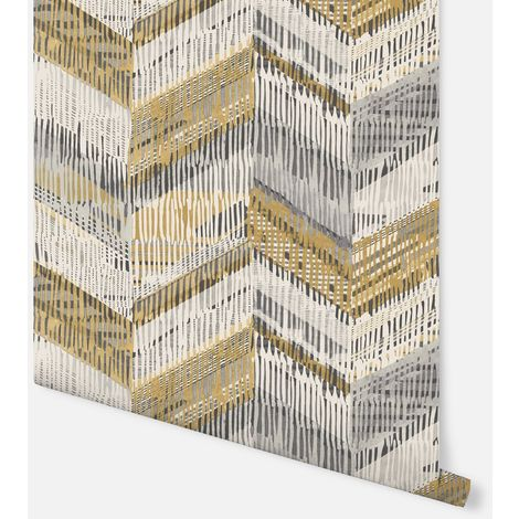 Arthouse Paste The Wall Wallpaper Chevron Weave