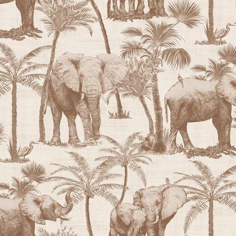 Arthouse Paste The Wall Wallpaper Elephant Grove