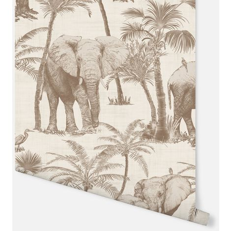Arthouse Paste The Wall Wallpaper Elephant Grove