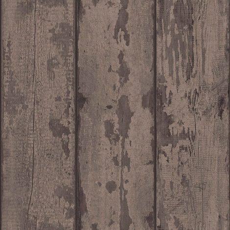 Arthouse Paste The Wall Wallpaper Mahogany Wood Plank 610802