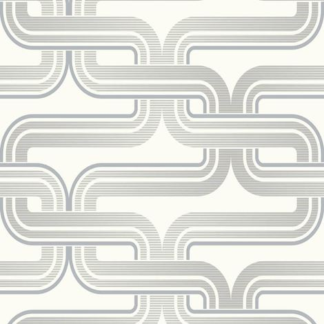 Arthouse Retro Link White/Silver Wallpaper