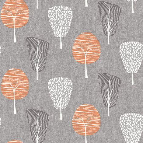 Arthouse Retro Tree Orange Wallpaper
