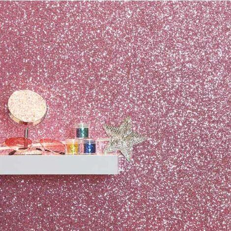 Arthouse Sequin Shimmer Blush Pink Glitter Shine Plain Textured Shiny Wallpaper