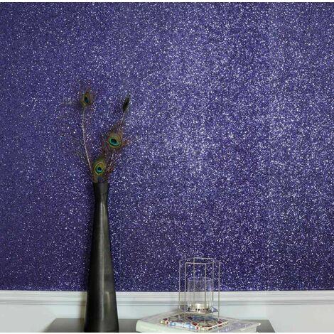 Arthouse Sequin Shimmer Navy Blue Glitter Shine Plain Textured Shiny Wallpaper
