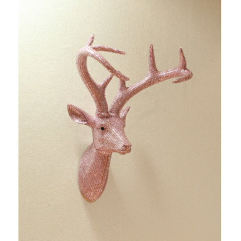 Arthouse Star Studded Stags Head Pastel Pink 008213