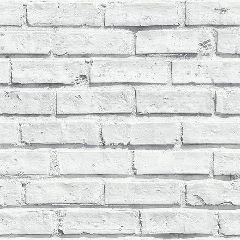 Arthouse Wallcoverings VIP Brick White 623004