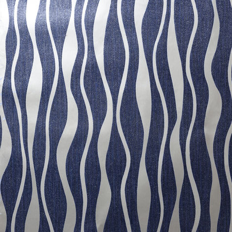 Arthouse Wallpaper 292803 Metallic Wave Navy/Silver