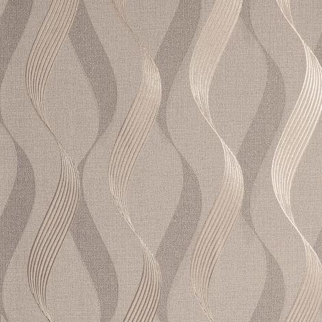 Arthouse Wallpaper 295501 Luxe Ribbon Mocha