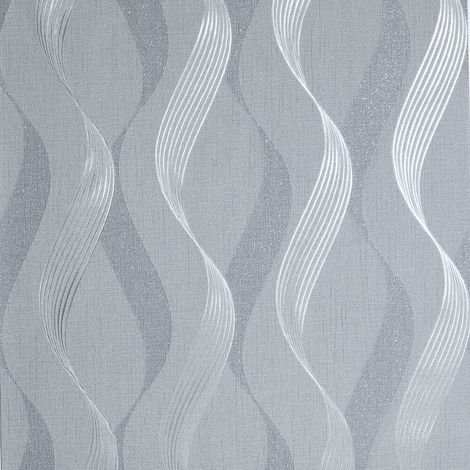 Arthouse Wallpaper 295503 Luxe Ribbon Charcoal/Silver
