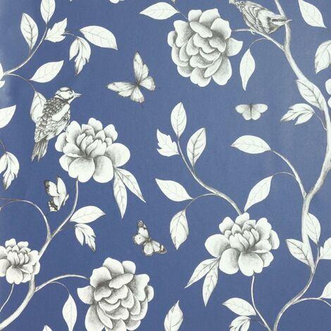 Arthouse Wallpaper 907600 Rose Garden Navy