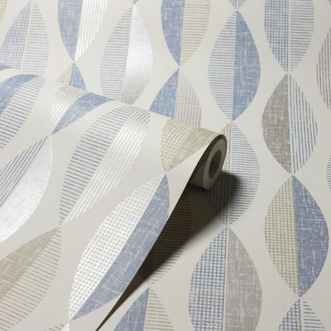 Arthouse Wallpaper Aziza Geo Blue 907506