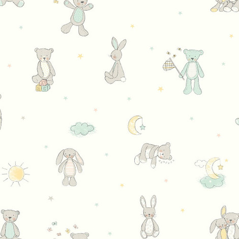 Arthouse Wallpaper Bear Hugs Mint 667400