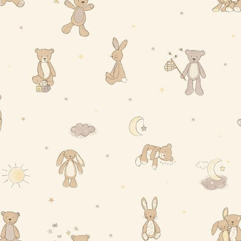 Arthouse Wallpaper Bear Hugs Neutral 667401