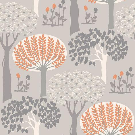 Arthouse Wallpaper Bernwood Orange Grey 416505 Full Roll