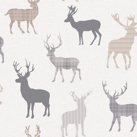 Arthouse Wallpaper Country Stag Neutral 942400
