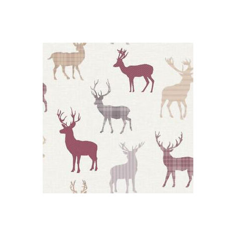 Arthouse Wallpaper Country Stag Red Cream 942401