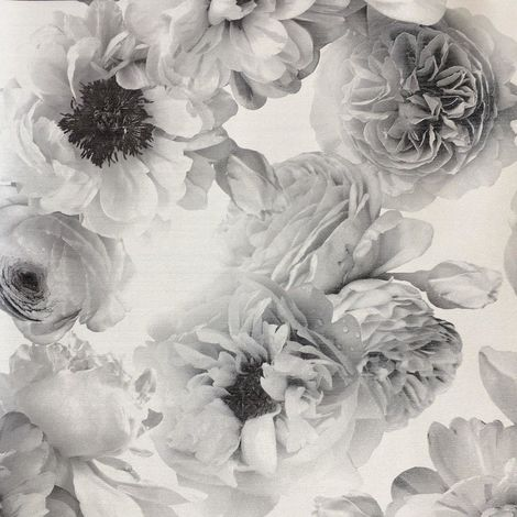 Arthouse Wallpaper Diamond Bloom Mono 257001