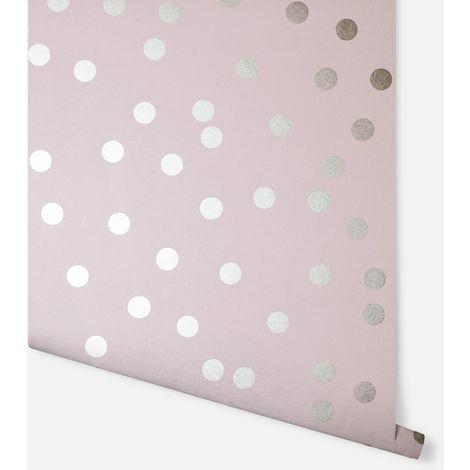 Arthouse Wallpaper Dotty Blush Rose Gold 685000