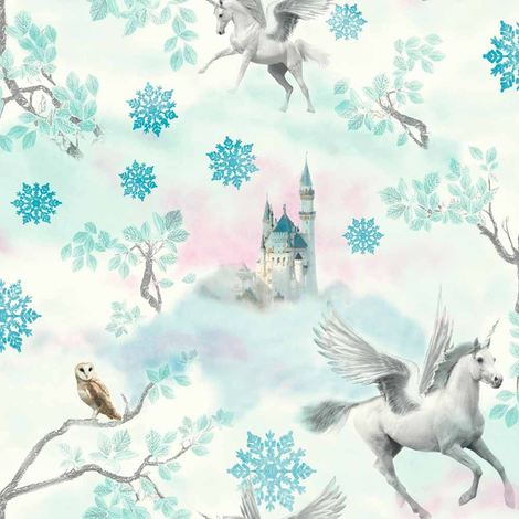 Arthouse Wallpaper Fairytale Ice Blue 667800