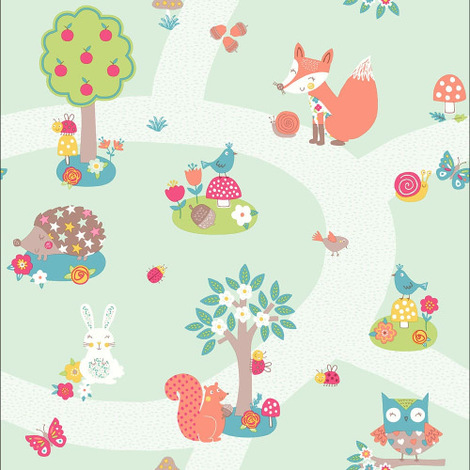 Arthouse Wallpaper Forest Friends Mint 667200