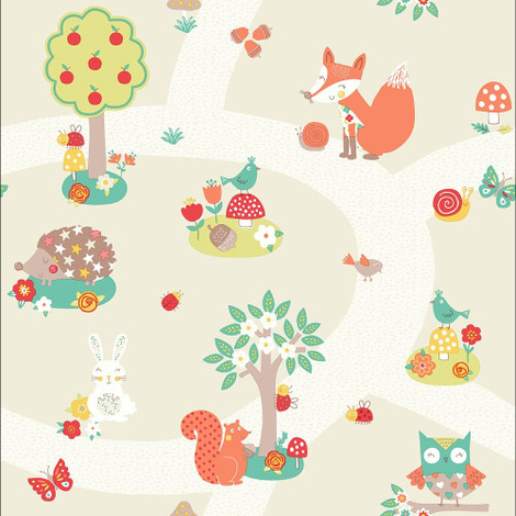 Arthouse Wallpaper Forest Friends Neutral 667201