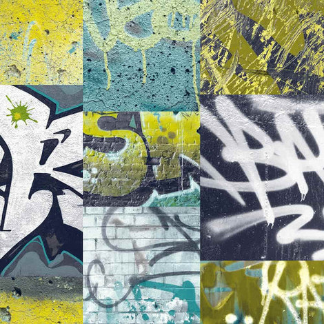 Arthouse Wallpaper Graffiti Lime 668300