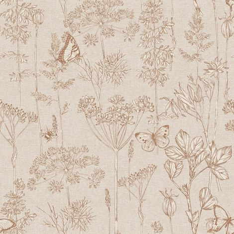 Arthouse Wallpaper Meadow Floral Rust 904401 Full Roll