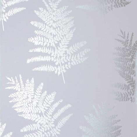 Arthouse Wallpaper Metallic Fern Silver 687002