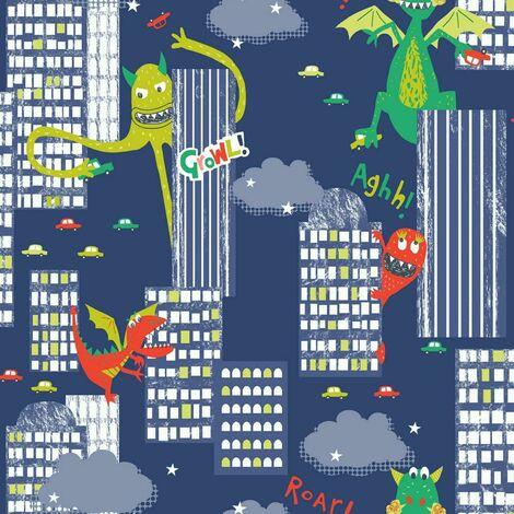Arthouse Wallpaper Monster Mad Multi 667701