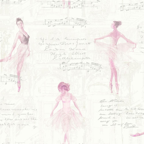 Arthouse Wallpaper Pirouette Pink 668200
