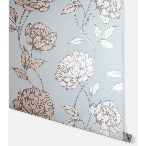 Arthouse Wallpaper Pretty Floral Soft Blue 688002