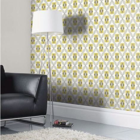 Arthouse Wallpaper Quartz Yellow 640703