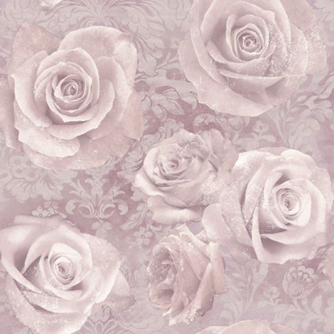 Floral wallpaper opera reverie blush pink roses flower heavy weight arthouse