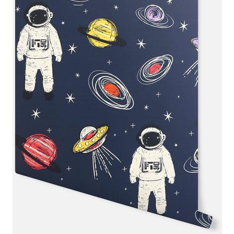 Arthouse Wallpaper Spaceman Navy Multi 697901