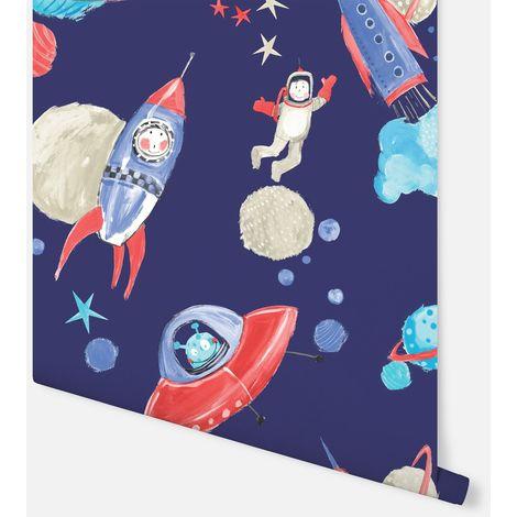 Arthouse Wallpaper Starship Blue 668000