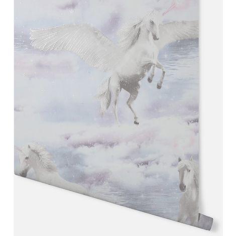 Arthouse Wallpaper Unicorn Kingdom Grey 692600